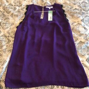 Purple Chiffon Lace Tank